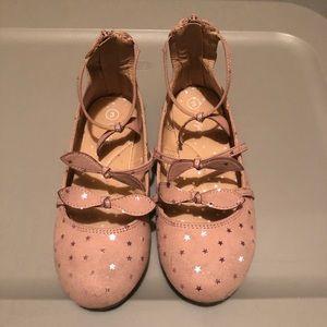 Girls Size 3 Pink Flats